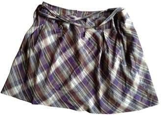 Comptoir des Cotonniers Purple Cotton Skirt for Women