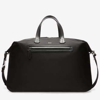 Bally Camer Black, Men's nylon weekender bag in black