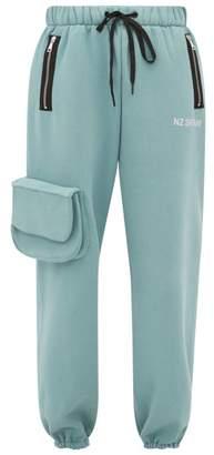 Natasha Zinko Cargo Pocket Cotton Blend Jersey Track Pants - Womens - Light Green