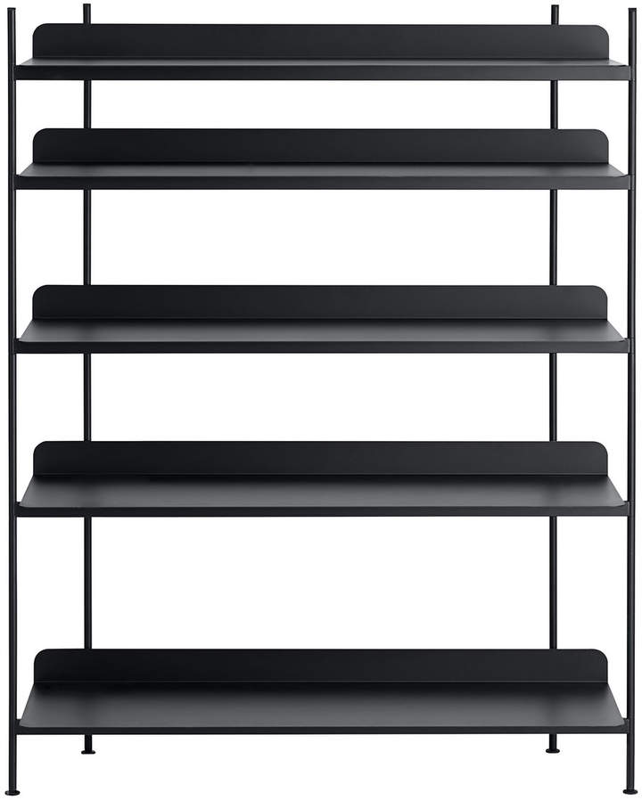 Muuto - Compile Shelving System (Config. 3), Schwarz