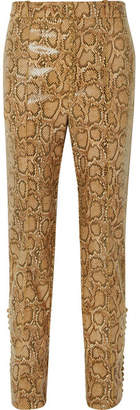 Hillier Bartley - Snake-effect Faux Leather Straight-leg Pants - Snake print