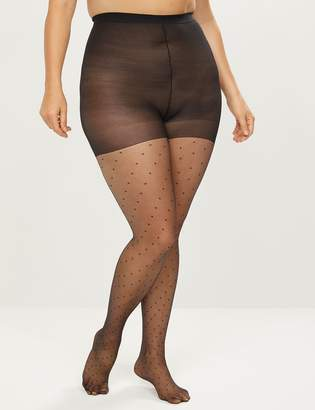 Lane Bryant Smoothing Tights - Sheer Dot