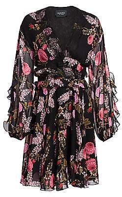 Giambattista Valli Women's Ramage Rose Silk Georgette Fit-&-Flare Dress