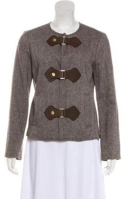 Tory Burch Wool Tweed Cropped Jacket
