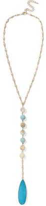 Kenneth Jay Lane Gold-Tone Bead And Stone Necklace