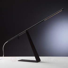 Schwarze LED-Design-Tischleuchte Jella
