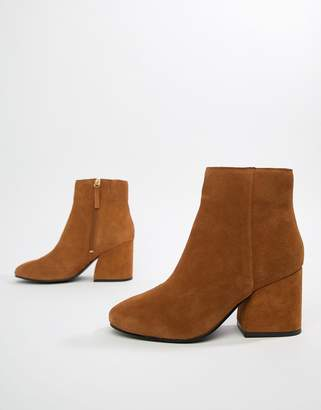 Pull&Bear suede block heeled boot