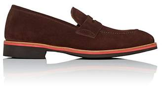 di Bianco Men's Suede Penny Loafers