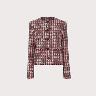 LK Bennett Danna Red Tweed Jacket