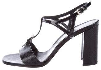 Prada Leather T-Strap Sandals w/ Tags