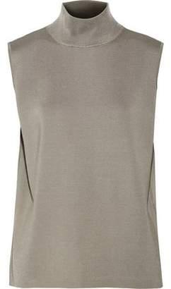 Dion Lee Draped Open-Back Stretch-Knit Turtleneck Top