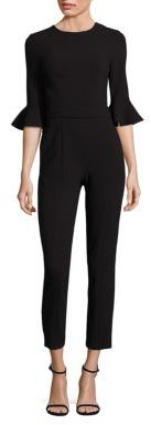 Black Halo Brooklyn Cropped Jumpsuit $375 thestylecure.com