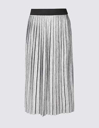 Marks and Spencer CURVE Pleated Maxi Skirt