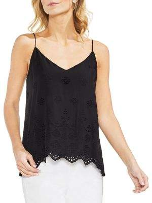 Vince Camuto Topic Heat Scalloped Hem Blouse