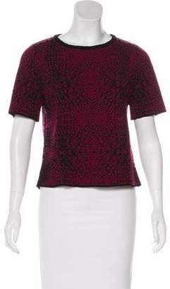 Torn By Ronny Kobo Patterned Short Sleeve Sweater