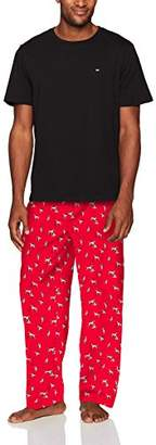 Tommy Hilfiger Men's Poplin Pajama Pant and T-Shirt Set