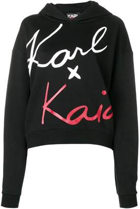 Karl Lagerfeld X Kaia Cropped Sweatshirt