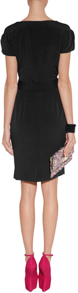 Viktor & Rolf Black Crepe Dress with Bow Sash