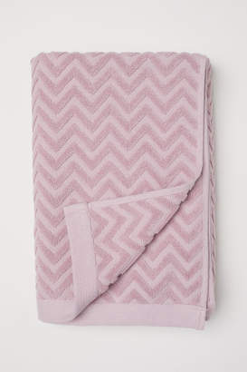 H&M Jacquard-patterned Bath Towel - Pink