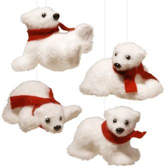 National Tree Company Polar Bear Christmas Ornament 4-piece Set
