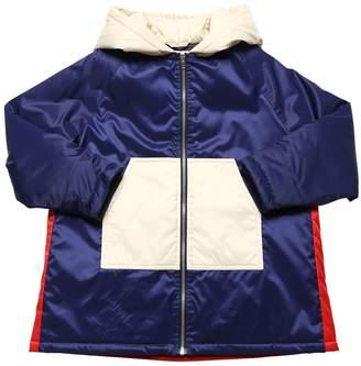 Marni Junior COLOR BLOCK NYLON PUFFER COAT