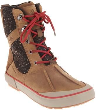 Keen Waterproof Leather Lace-Up Boots - Elsa II Wool