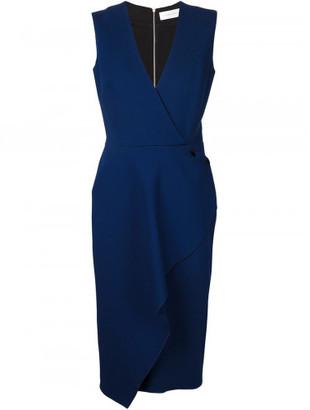 Victoria Beckham front ruffle sleeveless dress