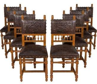 Set of 8 Jacobean Revival Dining Chairs