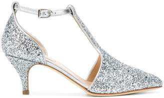 Polly Plume Wannabe glitter pumps