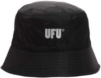 Logo Printed Nylon Bucket Hat