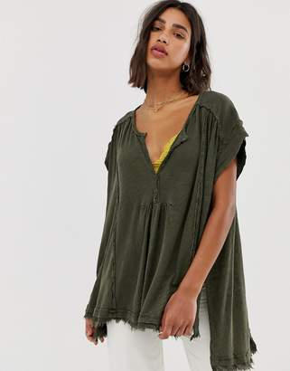 Free People Aster henley shirt
