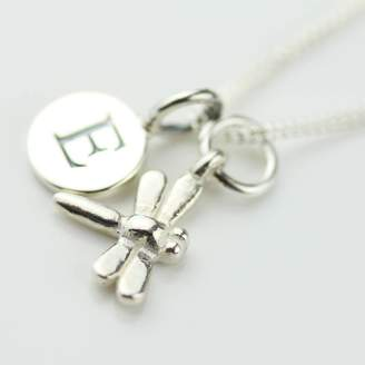 Nest Personalised Miniature Dragonfly Necklace