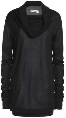 Jil Sander Draped Cashmere And Silk-Blend Sweater
