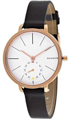 Skagen Hagen Collection SKW2356 Women's Leather Strap Watch $346 thestylecure.com