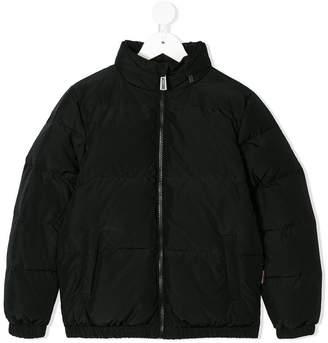Moschino Kids TEEN logo print padded jacket
