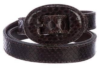 Saint Laurent Vintage Snakeskin Belt