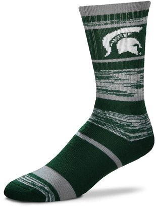 For Bare Feet Adult For Bare Feet Michigan State Spartans RMC Stripe Crew Socks