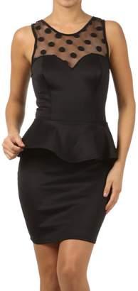 Va Va Voom Peplum Cocktail Dress