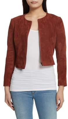 Theory Morene Stretch Suede Jacket