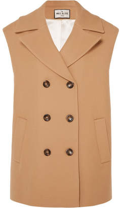 Paul & Joe Baron Double-breasted Wool-cotton Blend Gilet - Camel