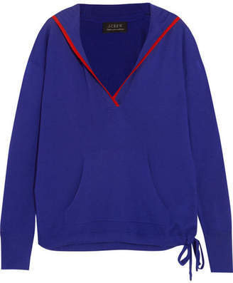 J.Crew Hooded Cashmere Sweater - Blue