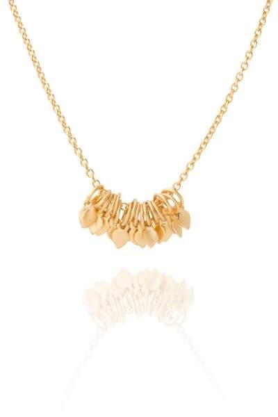 Styleserver DE Satya Halskette mit Blätter Cluster vergoldet
