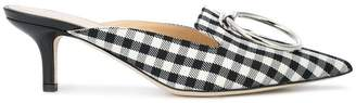 Monse checked pointed mules