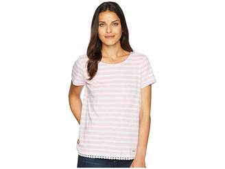 U.S. Polo Assn. Stripe Tee with Bottom Detail Women's T Shirt