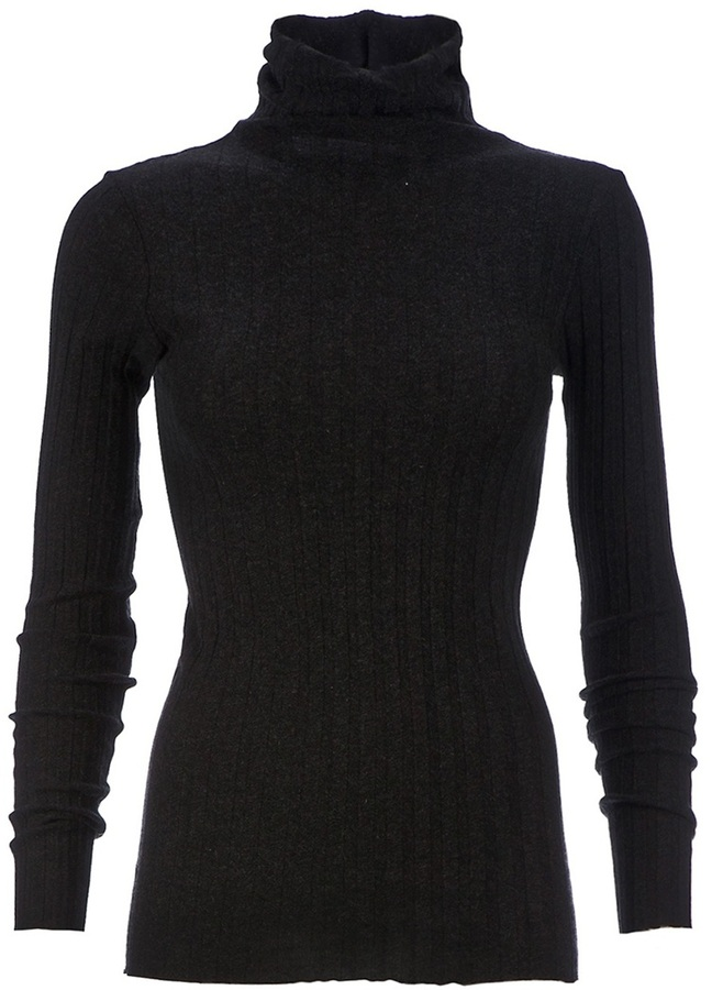 Enza Costa turtle neck ribbed sweater