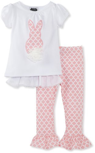 Mud Pie Girls 2-6x Bunny Tunic And Legging Set