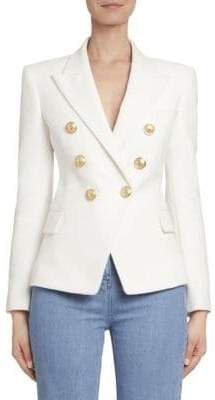 Balmain Double Breasted Cotton Blazer