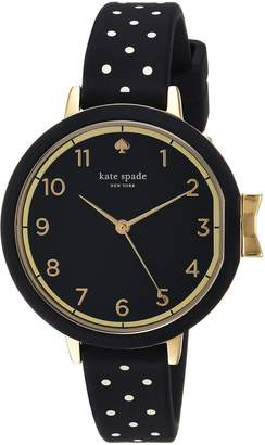 Kate Spade Women's 'Park Row' Quartz Stainless Steel and Silicone Casual Watch, Color: (Model: KSW1355)