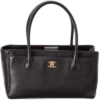 Chanel Black Calfskin Leather Small Cerf Tote