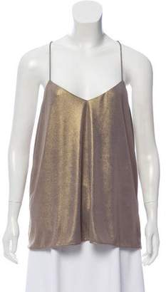Tibi Metallic Sleeveless Top